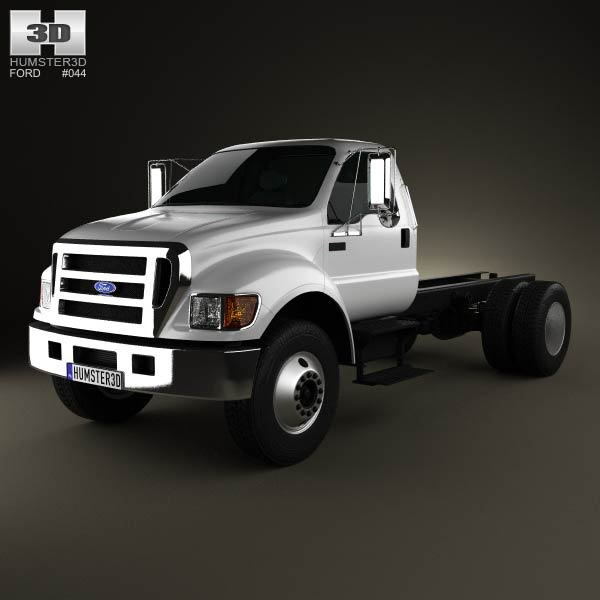Ford F-650 / F-750 Regular Cab Chassis 2012 3d model