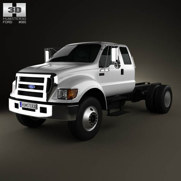 Ford F-650 / F-750 Super Cab Chassis 2012 3d car model