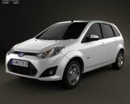 3D model of Ford Fiesta Rocam hatchback (Brazil) 2012