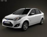 3D model of Ford Fiesta Rocam sedan (Brazil) 2012