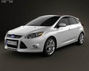 3D model of Ford Focus Hatchback Titanium 2012