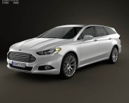 3D model of Ford Mondeo wagon 2013