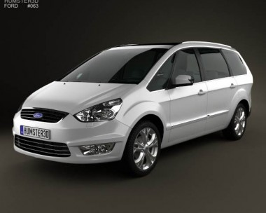 Ford Galaxy (Mk3) 2012 3d car model