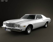 3D model of Ford Gran Torino hardtop 1974