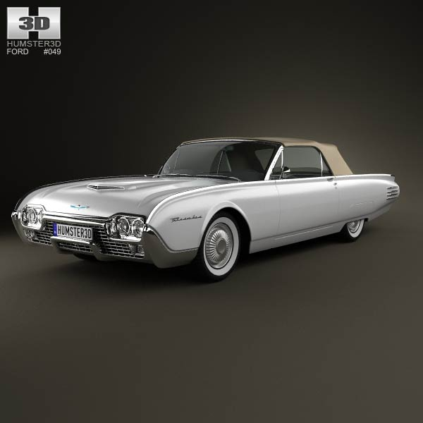 Ford Thunderbird 1961 3d car model
