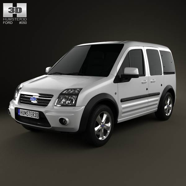 3D model of Ford Tourneo Connect LWB 2012