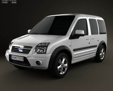 3D model of Ford Tourneo Connect SWB 2012