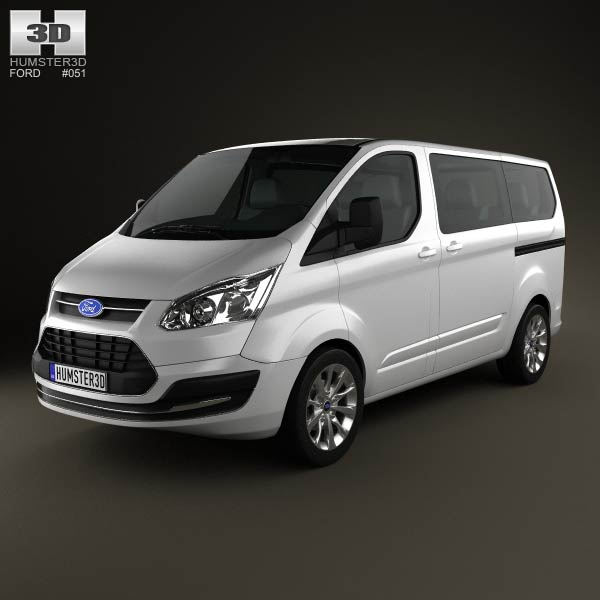 3D model of Ford Tourneo Custom SWB 2012