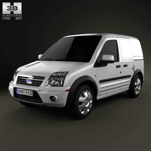 Ford Transit Connect SWB 2012 3d car model