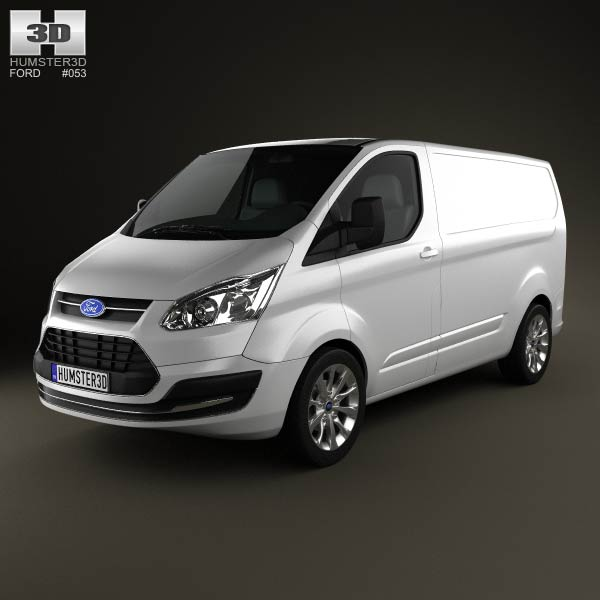 3D model of Ford Transit Custom SWB 2012