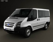 3D model of Ford Transit Tourneo SWB Low Roof 2012