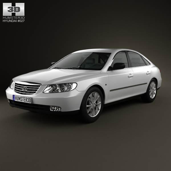 3D model of Hyundai Grandeur (Azera) 2011