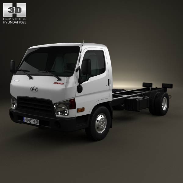 Hyundai HD65 Chassis Truck 2012 3d model