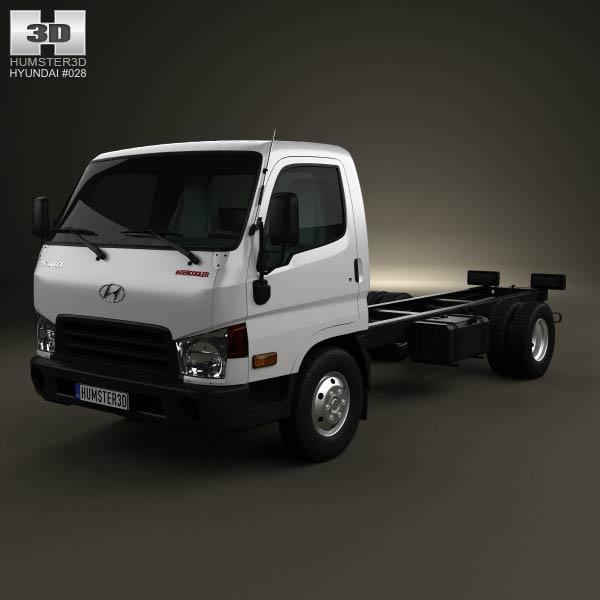 Hyundai HD65 Chassis Truck 2012 3d car model