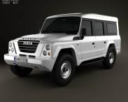 3D model of Iveco Massif 5-door 2011