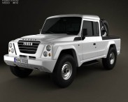3D model of Iveco Massif pickup 2011
