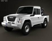 3D model of Iveco Massif pickup 2011