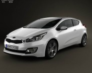 3D model of Kia Pro Ceed 2014