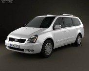 3D model of Kia Sedona (Carnival) LWB 2012