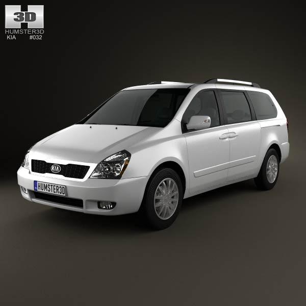 3D model of Kia Sedona (Carnival) LWB 2012