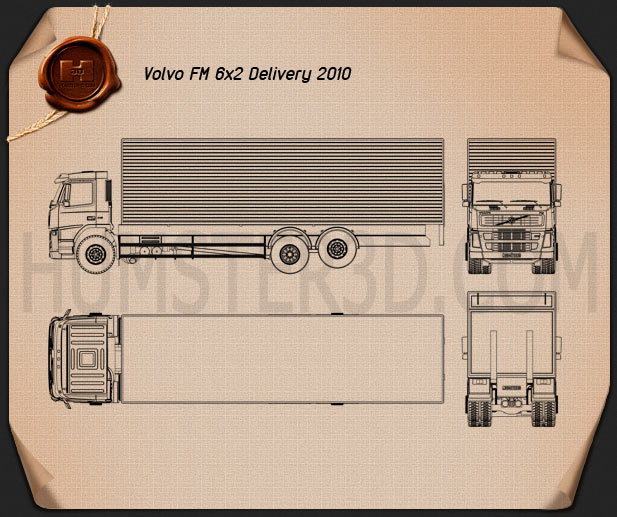 Volvo Truck 6×2 Delivery Blueprint