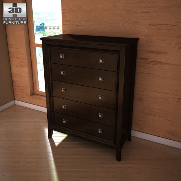 ashley martini suite chest 3d model humster3d