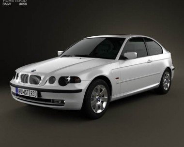 3D model of BMW 3 Series compact (E46) 2004