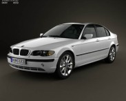 3D model of BMW 3 Series sedan (E46) 2004