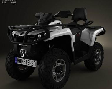 3D model of BRP Can-Am Outlander MAX XT 2013