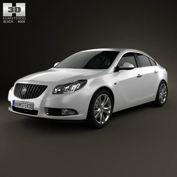 Buick Regal 2012 3d car model