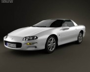 3D model of Chevrolet Camaro coupe 2000