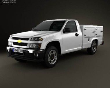 3D model of Chevrolet Colorado Hotshot II Lowboy 2011