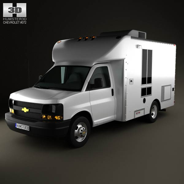 Chevrolet Express Mobile Vending 2003 3d car model