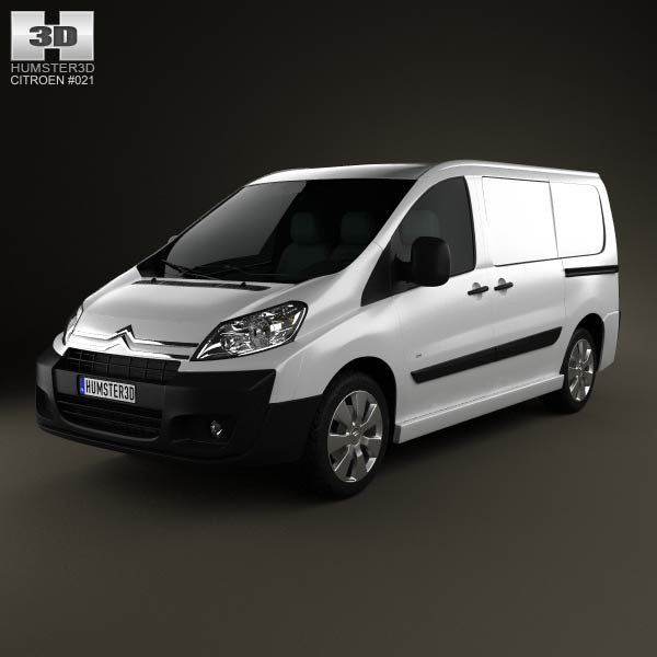 3D model of Citroen Jumpy Panel Van L1H1 2011