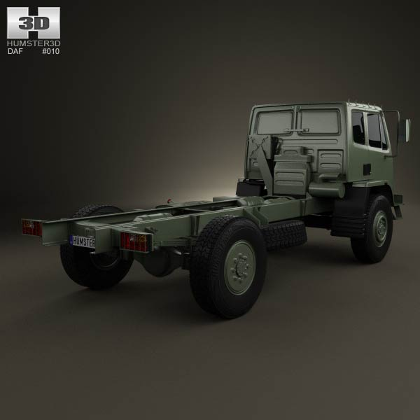 DAF Leyland T244 Chassis Truck 1989 3d model