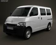 3D model of Daihatsu Gran Max Minibus 2012