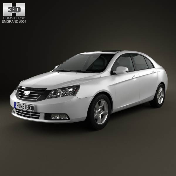 Emgrand EC7 2012 3d car model