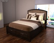 3D model of Ashley Emory Panel Bed