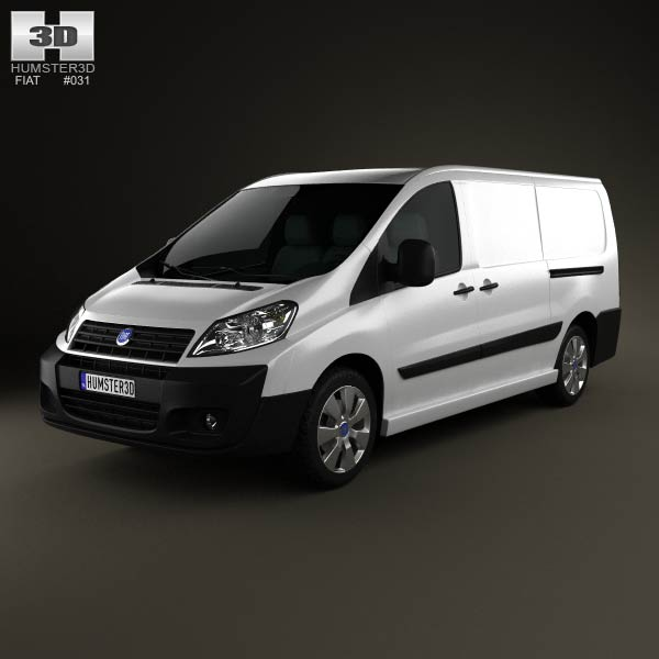 Fiat Scudo Panel Van L2H1 2011 3d car model
