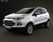 3D model of Ford Ecosport Titanium 2013