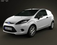 3D model of Ford Fiesta Van 2012