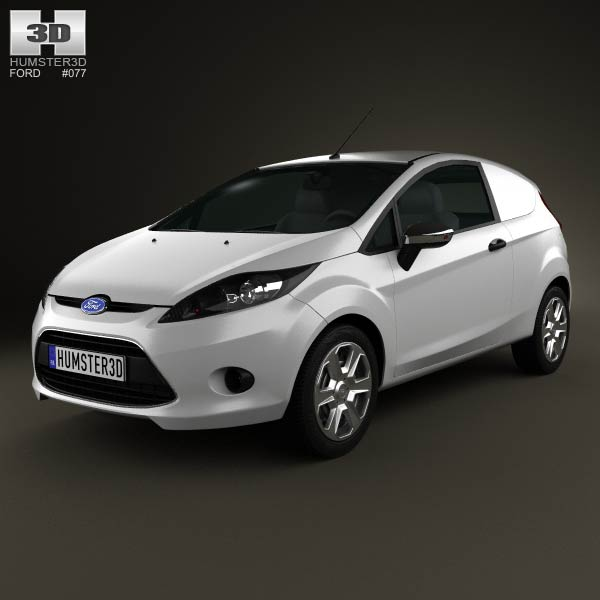 Ford Fiesta Van 2012 3d car model