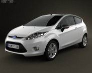 3D model of Ford Fiesta hatchback 3-door (EU) 2012
