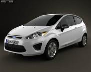3D model of Ford Fiesta hatchback 3-door (US) 2012