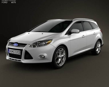 3D model of Ford Focus Wagon 2012