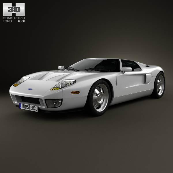 Ford GT 2006 3d car model