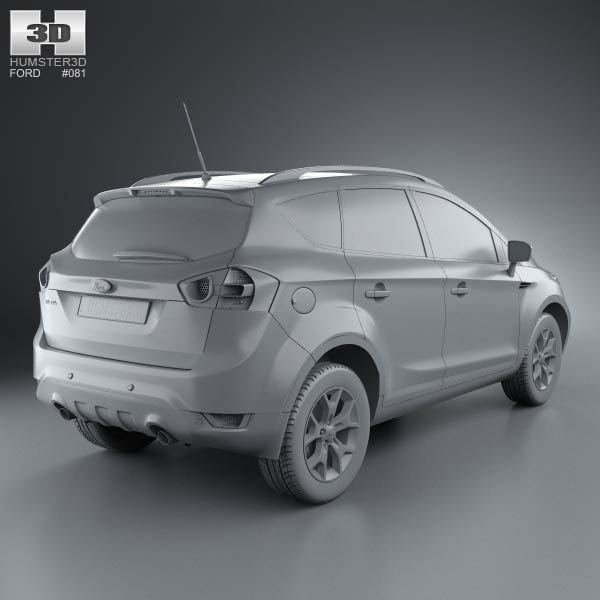 ford kuga 2012 3d model humster3d. Black Bedroom Furniture Sets. Home Design Ideas