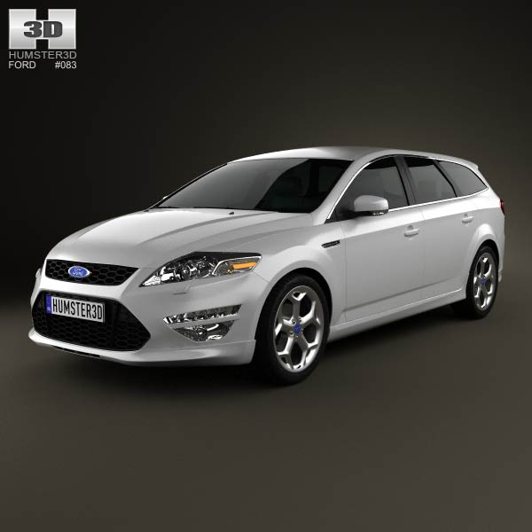 Ford Mondeo Turnier Titanium X Mk4 2012 3d car model