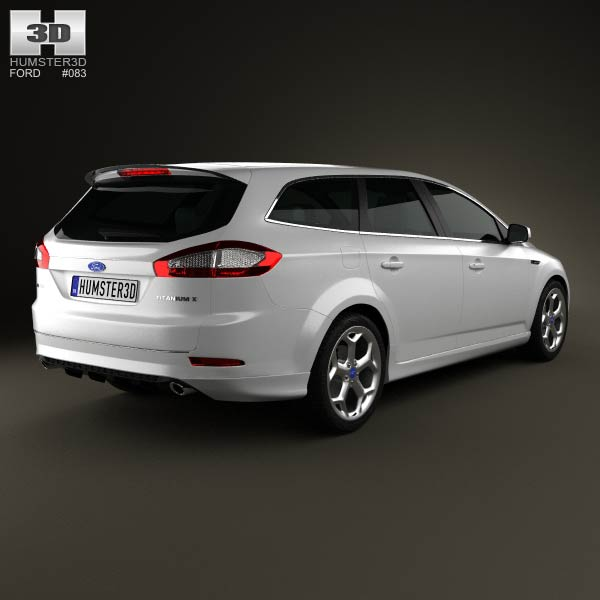 ford mondeo turnier titanium x mk4 2012 3d model humster3d. Black Bedroom Furniture Sets. Home Design Ideas