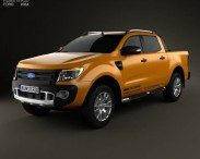 3D model of Ford Ranger Wildtrak Double Cab 2012